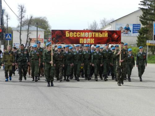 Бессмертный полк прошагал по улицам Гагарина 1